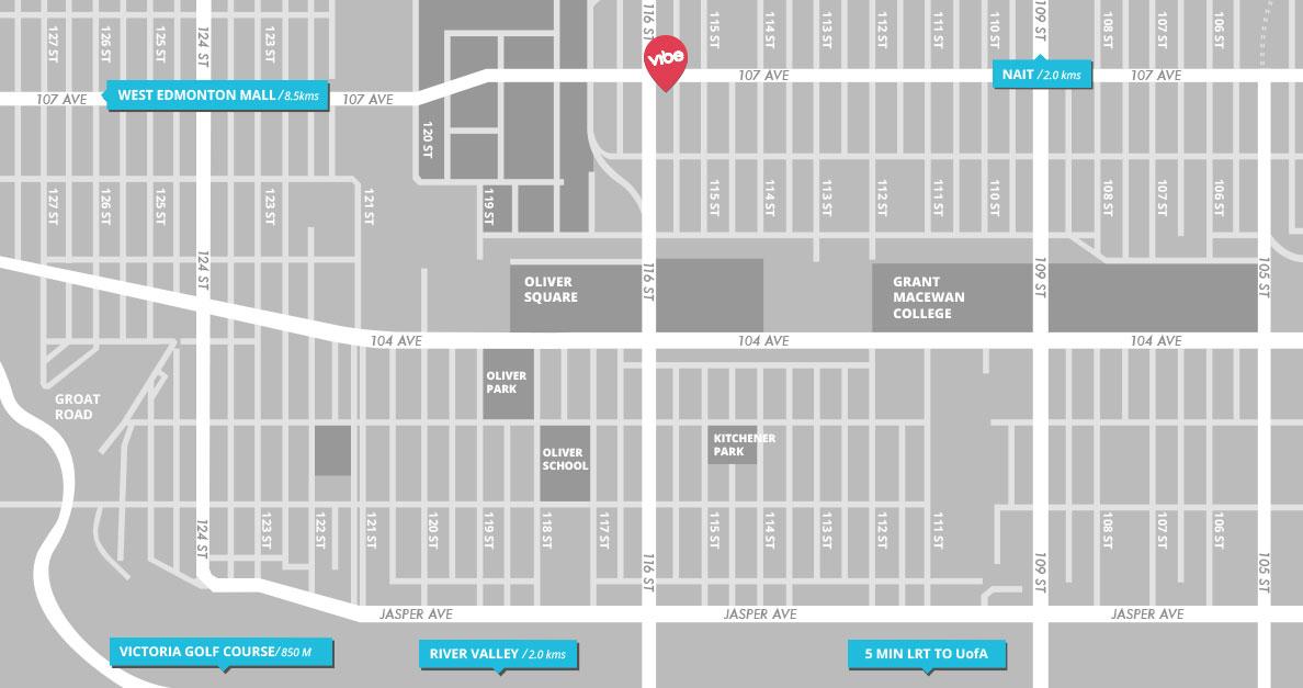 Vibe Condos - Community Map