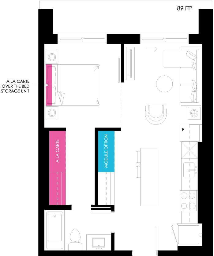 Vibe Condos - Ambitious Floorplan