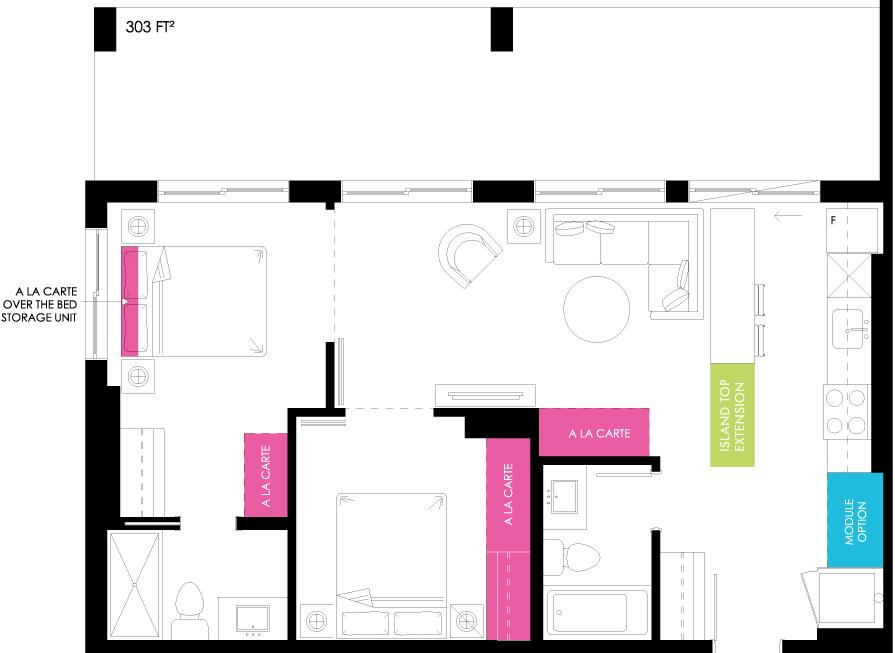 Vibe Condos - Earnest Floorplan