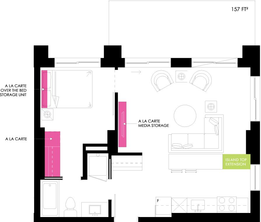 Vibe Condos - Gracious Floorplan