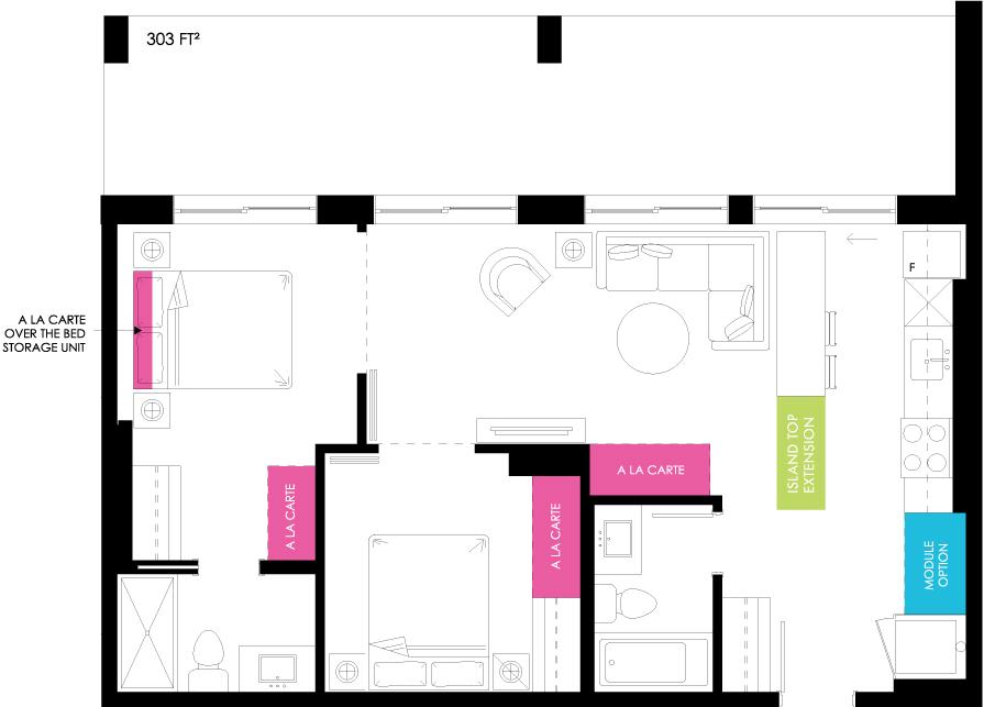 Vibe Condos - Passionate Floorplan
