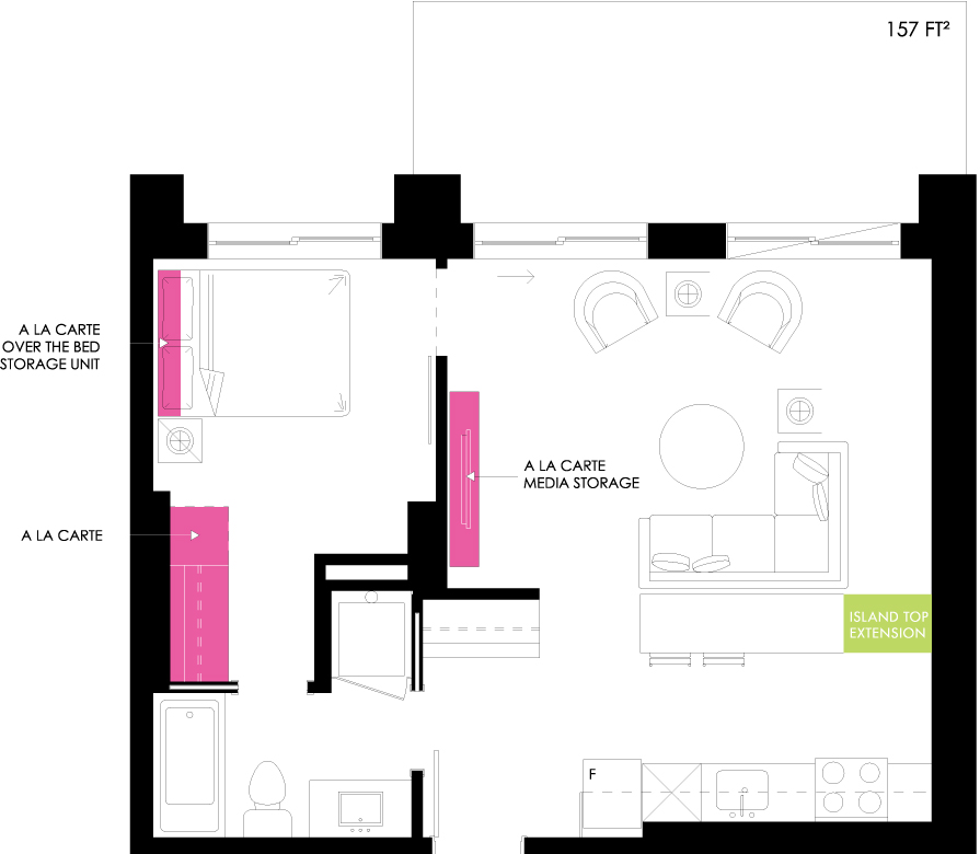 Vibe Condos - Peaceful Floorplan