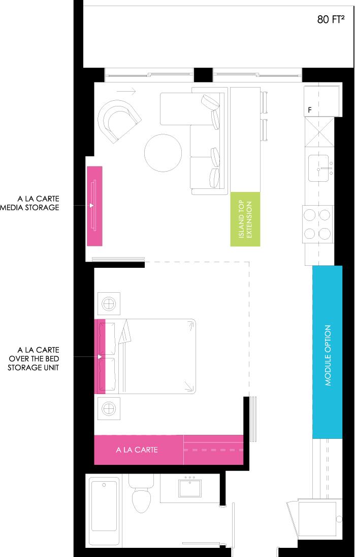 Vibe Condos - Radiant Floorplan